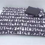 Guinea pig Futon Bed - Bunny Print