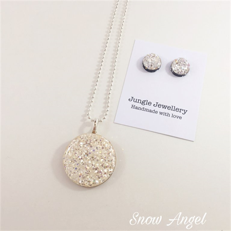 Necklace and Earring Set - Snow Angel