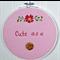 """""""Cute as a button"""" hoop art"""