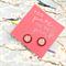 Pink Polka Dot Small Stud Glass Earrings