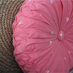 Flamingo Pink Vintage Style  round cushion-FREE POST(Aust only-no PO Boxes)