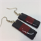 Red and Black Earrings - FREE POSTAGE