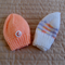 *Special * 2 beanies: Size 0-6 mths Beanie in white/multi colour & Apricot