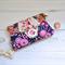 Navy blue clutch purse, bright pink, quirky evening bag, vegan phone wallet