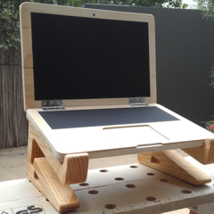 Wooden Laptop - 100% Australian made home décor for kids or shop display