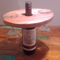 Wine Set - Wine for 2 :) Bottle + Glasses Display Holder