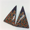 Larger 'Autumn Leaves' Triangle  STUD Earrings - FREE POSTAGE