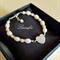 Lovely Pearl Bracelet - Bridesmaid Jewellery - White, Peach FW Pearl - B012
