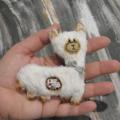 White Alpaca/Llama Ornie by Woollybuttbears - made to order