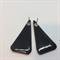 Larger  Elegant Orange Triangle  STUD Earrings - FREE POSTAGE