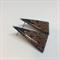 Larger 'Autumn Leaves' Triangle  STUD Earrings - FREE POSTAGE