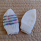 *Special * 2 beanies: Size 0-6 mths knitted Beanie in White/multi colour & white