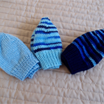 *Special * 3 beanies: Size 6-12mths; 2 x multi colour blue and sky blue
