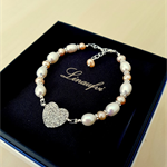 Lovely Pearl Bracelet - Bridesmaid Jewellery - White, Peach FW Pearl - B012