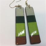 'Long Greens' Earrings - FREE POSTAGE