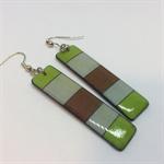 'Spring Green' Earrings - FREE POSTAGE