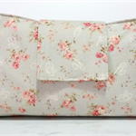 Nappy Wallet - Soft Grey with Pink Roses - Girl - Medium