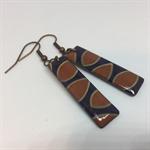 'Rustic Leaves' Earrings - FREE POSTAGE