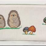 Hedgehog and Mushroom Zippered Case