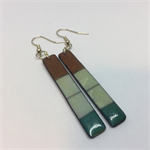 Turquoise & Tan Earrings - FREE POSTAGE