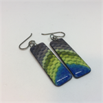 Tapestry Rectangle Earrings - FREE POSTAGE