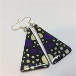 Purple Doodle Earrings - FREE POSTAGE