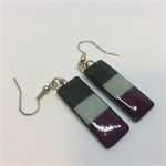 Grey and Burgundy Earrings - FREE POSTAGE