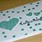 Congratulations Card - green confetti and hearts