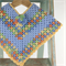 Pure Wool Crochet Poncho | 6 - 12 Months | Baby | Hand Crocheted | Ready to Post