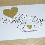 Wedding Day card - Black & Gold