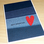 Anniversary  Card - denim print