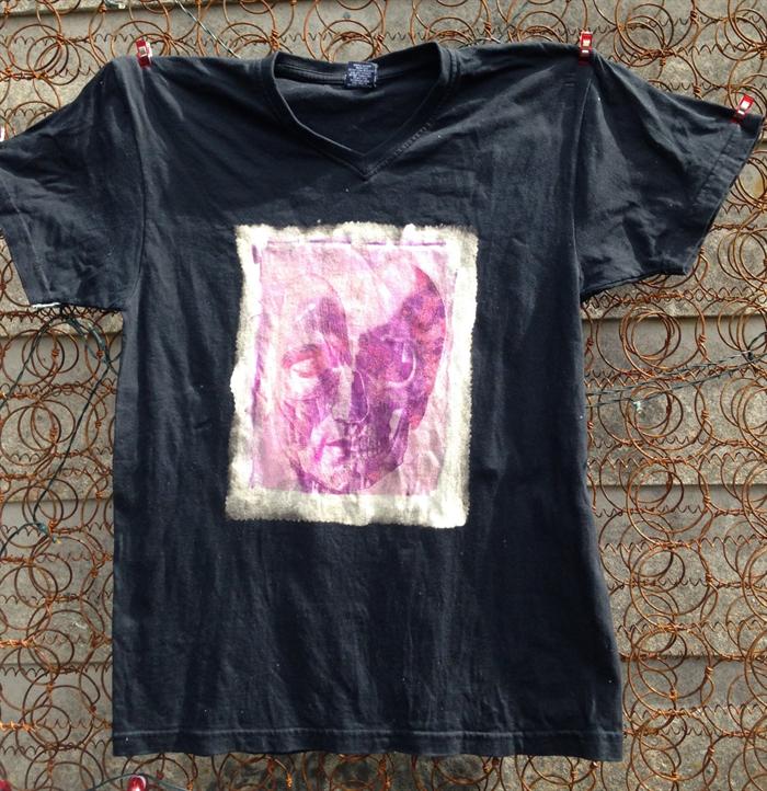 Grunge Human Anatomy T Shirt Unisex Short Sleeved Bleached Sun