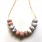 Make it yourself two necklace kit-handcrafted polymer clay beads rose gold