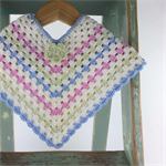 Pure Wool Crochet Poncho | 3 - 6 Months | Baby | Hand Crocheted | Ready to Post