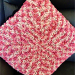 Crochet Cushion Cover - Black and Pink