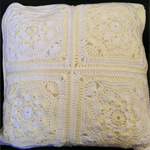 Crochet Cushion Cover - White and Cream