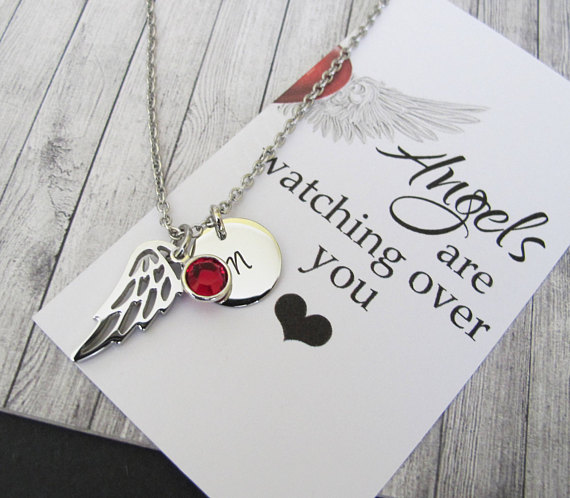 Best Friend Gift Sister Gift Guardian Angel Necklace