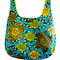 Reversible cotton market bag in blues and greens. Eco friendly
