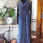 Sleeveless denim coat
