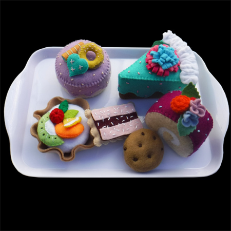 FELT FOOD CAKE SET TREATS