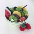 9 Piece Toy Fruit Set | Amigurumi | Educational | Hand Crochet | Ready to Post
