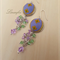 Violet-Purple-Green Earring - Batik Jewellery - Swarovski crystal - E016