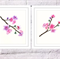 Set of 2 Cherry Blossoms Print, A4 Size Watercolor Blossoms