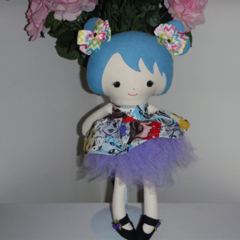 Blue hair girl Softie