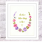 Floral Personalised Print, A4 Size Customisable Quote, Watercolour Flowers