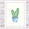 Three Amigos Cactus VALUE Set of 3, A4 Size Watercolour Potted Cacti