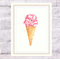 Ice Cream Print, A4 Size Summer Print, Kitchen Print