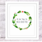 Cacti Wreath Personalised Print, A4 Size Customizable Quote, Watercolour Cactus