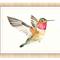 Hummingbird Print, A4 Size Watercolour Hummingbird