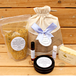 Skin Care Gift Pack (bath soak, olive oil soap, lip balm, face oil & lotion bar)